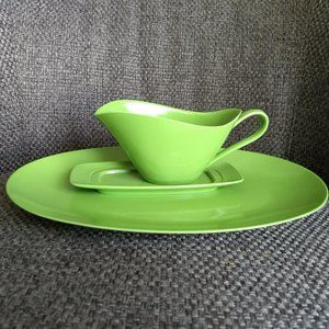 melamine melmac serving tray butter dish gravy